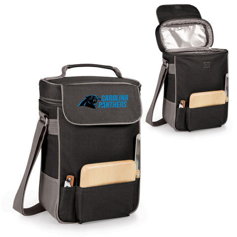 The Carolina Panthers Duet Wine Tote with Cheese Board
