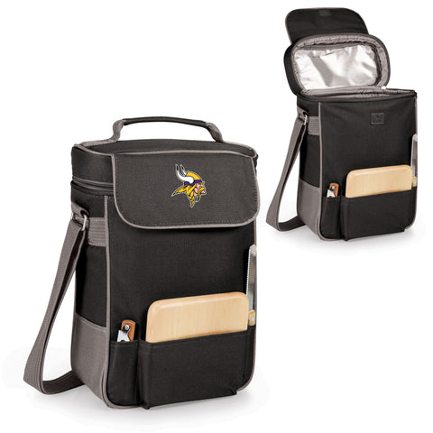 The Minnesota Vikings Duet Wine Tote with Cheese Board