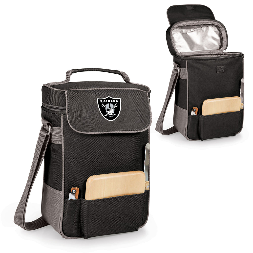 The Oakland Raiders Duet Wine Tote with Cheese Board