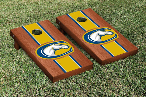 California University of Davis Aggies Rosewood Stained Stripe Version Cornhole Set Victory Tailgate 15996