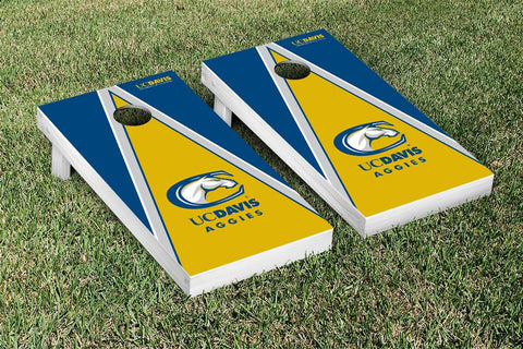 California University of Davis Aggies Cornhole Game Set Triangle Version - Victory Tailgate 15992