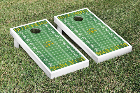 University of Delaware Blue Hens Cornhole Game Set Football Field Version - Victory Tailgate 24595