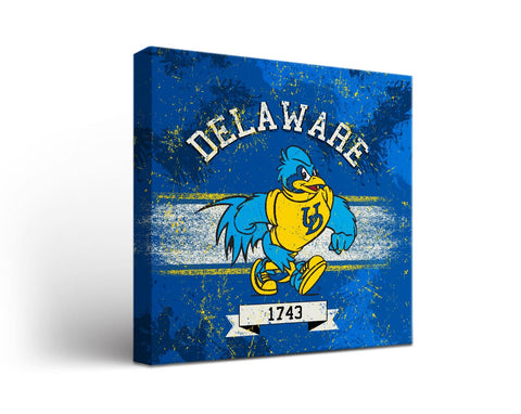 University of Delaware Blue Hens Man Cave wall art - Banner Design