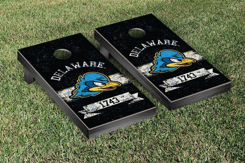 University of Delaware Blue Hens Cornhole Boards and bags, Banner Vintage Version - Victory Tailgate 33023