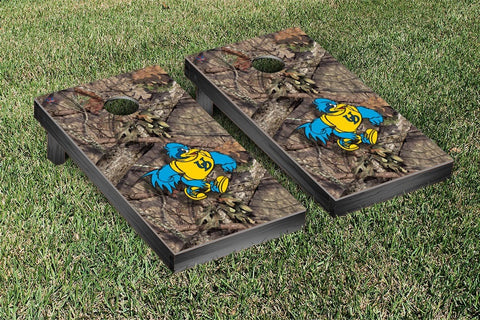 University of Delaware Blue Hens Cornhole Game Set Mossy Oak Version 2 - Victory Tailgate 58772