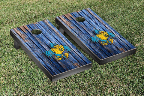 University of Delaware Blue Hens Cornhole Game Weathered Version 2 - Victory Tailgate 58774