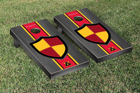 Delta Chi  Onyx Stained Cornhole Set Victory Tailgate