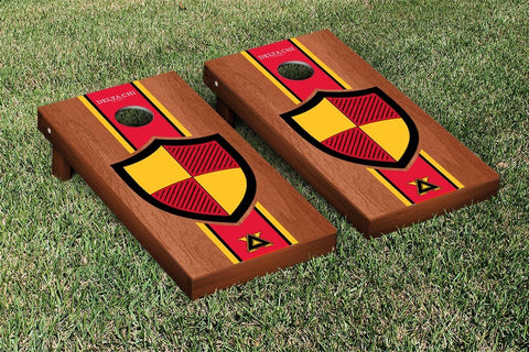 Delta Chi Rosewood Stained Cornhole Set Victory Tailgate