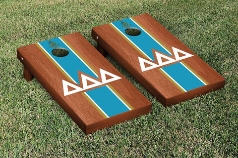 Delta Delta Delta Rosewood Stained Cornhole Set Victory Tailgate 31290