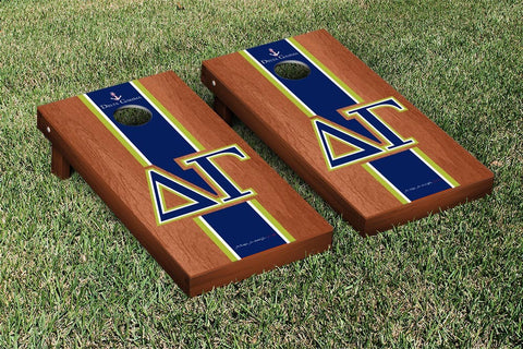 Delta Gamma Rosewood Stained Cornhole Set Victory Tailgate 31294