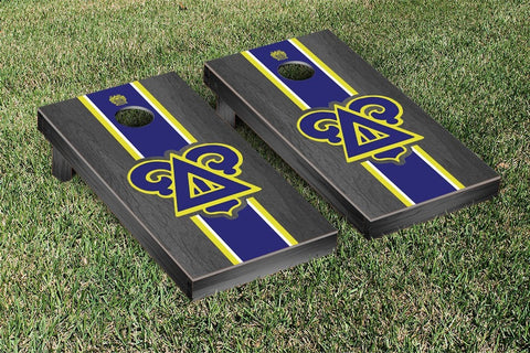 Delta Upsilon Onyx Stained Cornhole Set Victory Tailgate 31301