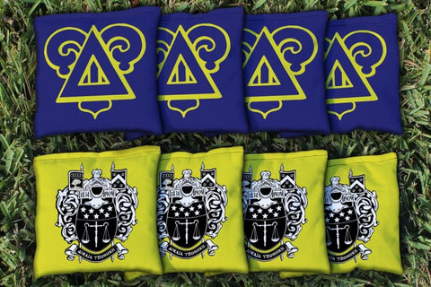 Delta Upsilon Corn Hole Bag Logo Set - corn filled