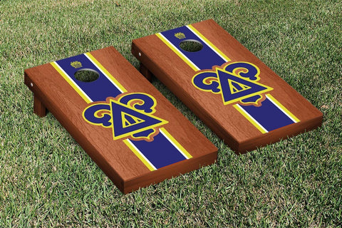 Delta Upsilon Rosewood Stained Cornhole Set Victory Tailgate 31302