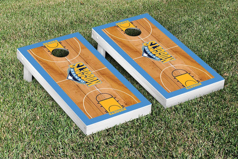 Denver Nuggets Cornhole Game Set Basketball Court Version - Victory Tailgate 28620
