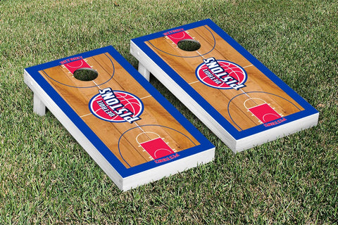 Detroit Pistons Cornhole Game Set Basketball Court Version - Victory Tailgate 28633