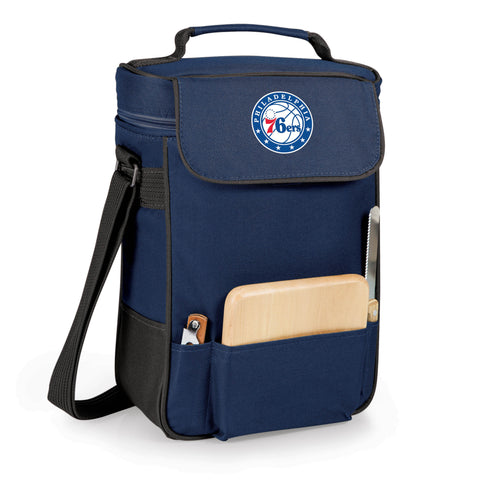 The Philadelphia 76ers Duet Wine and Cheese Tote by Picnic Time