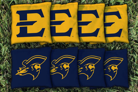 East Tennessee State ETSU Buccaneers Cornhole All Weather Bags Victory Tailgate 9096