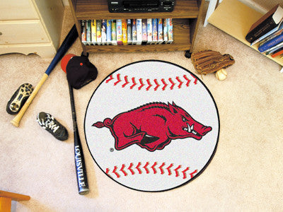 The Arkansas Razorbacks Baseball Mat - Fan Mats 2132