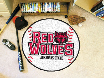 The ASU Red Wolves Baseball Mat - Fan Mats 2352
