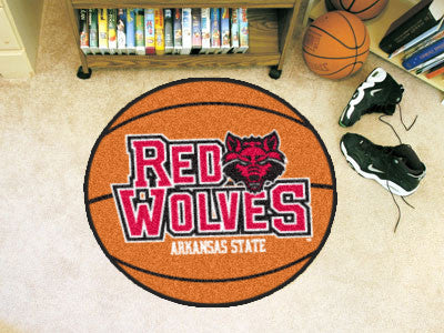 The Arkansas State Red Wolves Basketball Mat - FanMats 2357
