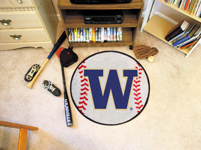The UW Huskies Baseball Mat - Fan Mats 2690