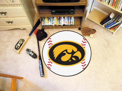 The Iowa Hawkeyes Baseball Mat - Fan Mats 3895