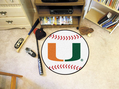 The Miami Hurricanes Baseball Mat - Fan Mats 4457