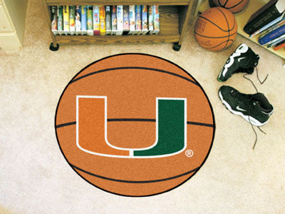 The Miami Hurricanes Basketball Mat - FanMats 4458