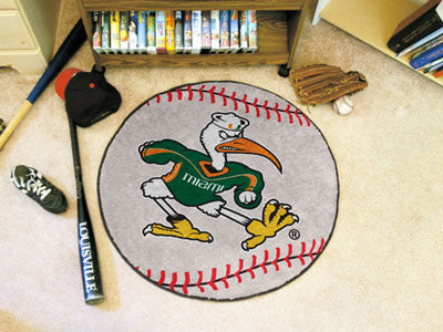 The Miami Hurricanes Ibis Baseball Mat - Fan Mats 5060