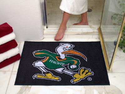 The Miami Hurricanes Ibis Logo All Star Mat - Fan Mats 5063