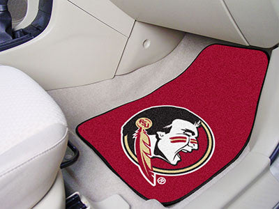 The FSU Seminoles 2 Piece Carpeted Florida State University Car Floor Mat Set - FanMats 5080