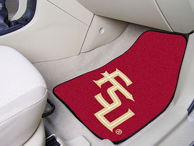 The FSU Seminoles 2 Piece Carpeted Florida State University Car Floor Mat Set - FanMats 5081