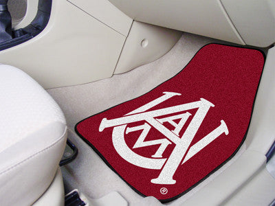 The AAMU Bulldogs 2 Piece Carpeted Alabama A&M University Car Floor Mat Set - FanMats 5181