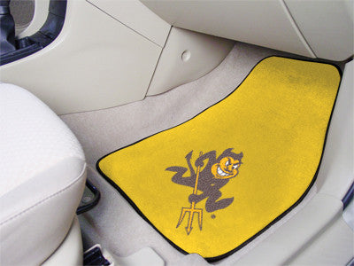 The ASU Sun Devils 2 Piece Carpeted Arizona State University Car Floor Mat Set - FanMats 5185
