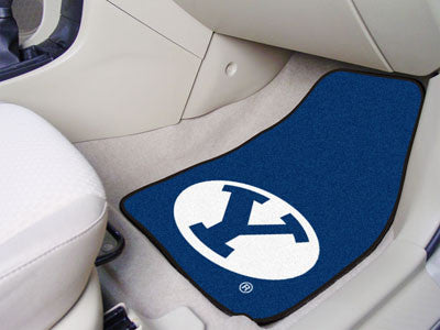 The BYU Cougars 2 Piece Carpeted Brigham Young University Car Floor Mat Set - FanMats 5199