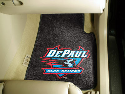The DePaul Blue Demons 2 Piece Carpeted DePaul University Car Floor Mat Set - FanMats 5221