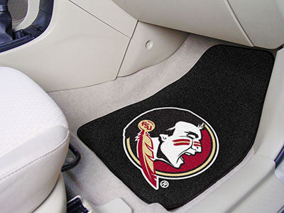The FSU Seminoles 2 Piece Carpeted Florida State University Car Floor Mat Set - FanMats 5236