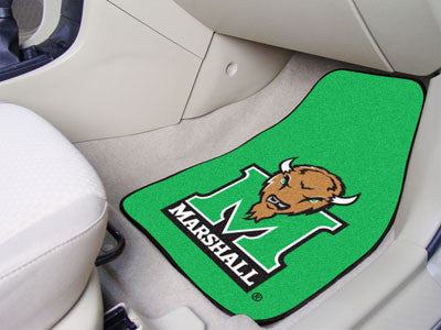 The Marshall  Thundering Herd 2 Piece Carpeted Marshall University Car Floor Mat Set - FanMats 5267