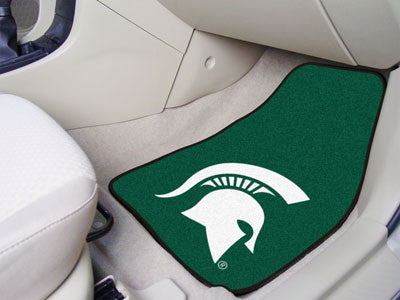 The MSU Spartans 2 Piece Carpeted Michigan State University Car Floor Mat Set - FanMats 5271