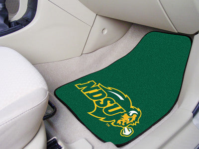 The NDSU Bison 2 Piece Carpeted North Dakota State University Car Floor Mat Set - FanMats 5286