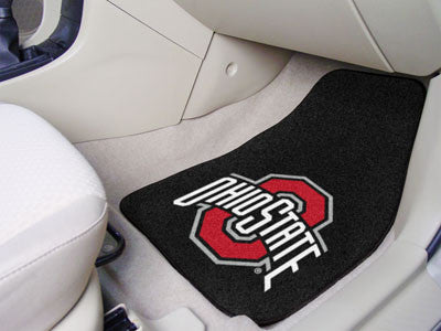 The OSU Buckeyes 2 Piece Carpeted Ohio State University Car Floor Mat Set - FanMats 5293