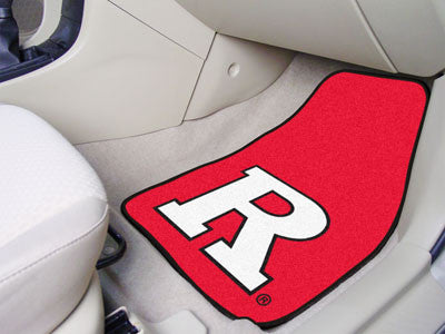 The Rutgers Scralet Knights 2 Piece Carpeted Rutgers University Car Floor Mat Set - FanMats 5304
