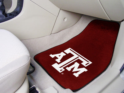 The TAMU Aggies 2 Piece Carpeted Texas A&M University Car Floor Mat Set - FanMats 5327
