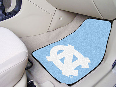 The UNC Tar Heels 2 Piece Carpeted University of North Carolina - Chapel Hill Car Floor Mat Set - FanMats 5429