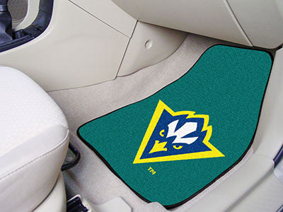 The UNCW Seahawks 2 Piece Carpeted University of North Carolina - Wilmington Car Floor Mat Set - FanMats 5432