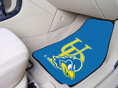 The UD Blue Hens 2 Piece Carpeted University of Delaware Car Floor Mat Set - FanMats 5442