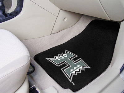 The Hawaii Warriors 2 Piece Carpeted University of Hawaii Car Floor Mat Set - FanMats 5444