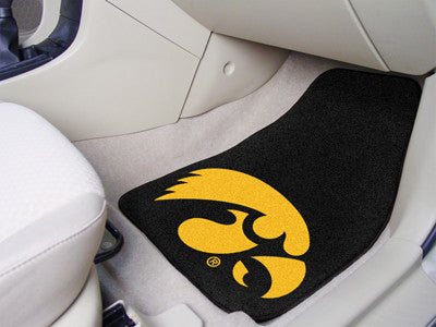 The Iowa Hawkeyes 2 Piece Carpeted University of Iowa Car Floor Mat Set - FanMats 5449