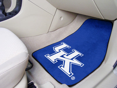 The UK Wildcats 2 Piece Carpeted University of Kentucky Car Floor Mat Set - FanMats 5451