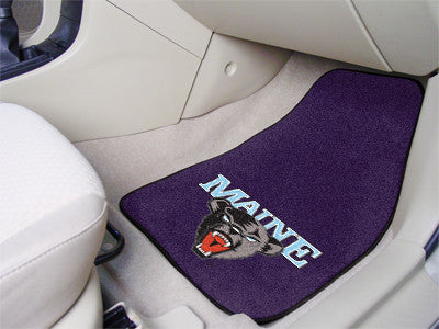 The Maine Black Bears 2 Piece Carpeted University of Maine Car Floor Mat Set - FanMats 5453
